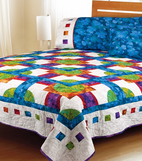 173 best Round robin and Row Robin quilt ideas images on Pinterest ... : colorful quilt patterns - Adamdwight.com