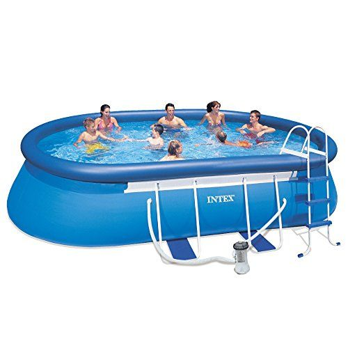 Spectacular Intex X X Oval Physique Pool Set Intex Oval Physique Pool Set has a mix of the simple assembly of an Simple Set Pool and the facility and as