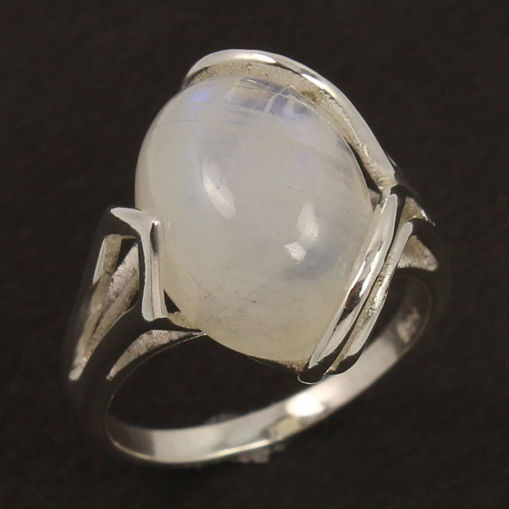 925 Sterling Silver Ring Size US 6 Natural RAINBOW MOONSTONE Oval Gems Wholesale #Unbranded