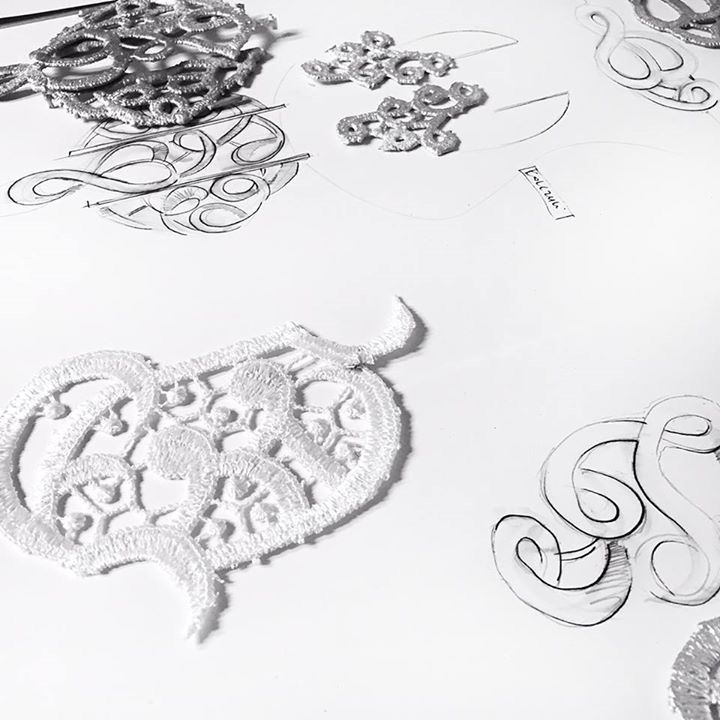 Lace - inspiration for new collection by Anna Orska. AJOUR already in our boutiques.