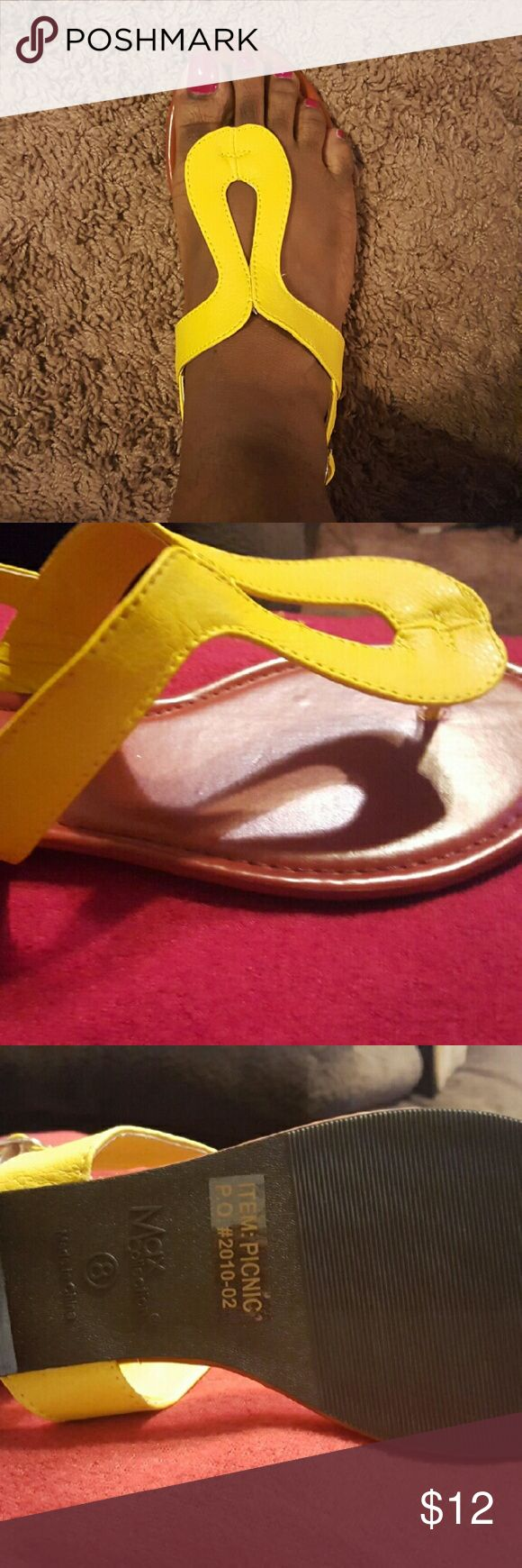 Sunflower Yellow Sandal Cute Yellow Sandal! Never worn. Shoes Sandals