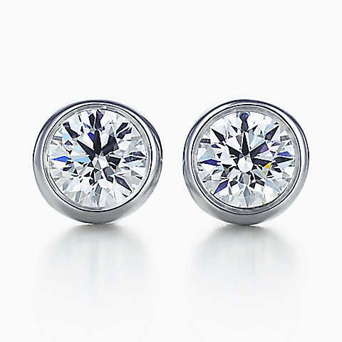 Elsa Peretti® Diamonds by the Yard® stud earrings. Diamonds.