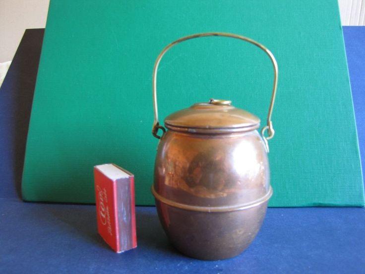 Sweden H.J. KARLSSON STALBOGA Copper Casserole Buffet Pan Pot Patina rare