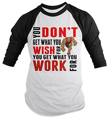 Let everyone know it isn't what you wish for, it's what you work for. This Wrestling themed t-shirt is a great inspirational great gift idea. Perfect for any Wrestling fan or wrestler. Our cotton t-sh