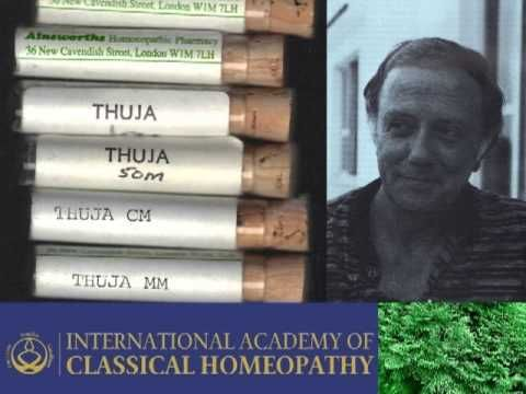 Lecture on the homeopathic remedy Thuja Occidentalis and Constitutional prescribing in Homeopathy, England, 1984.