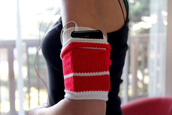 An old tube sock as a workout armband? Get the steps to make this super-easy (and very comfy!) accessory that stores your phone while you sweat it out. Cute too!