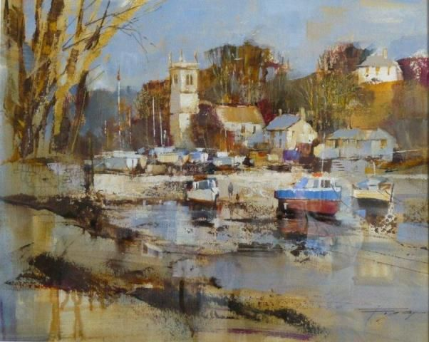 Early spring, St Anthony in Meneage, by Chris Forsey, 20x16