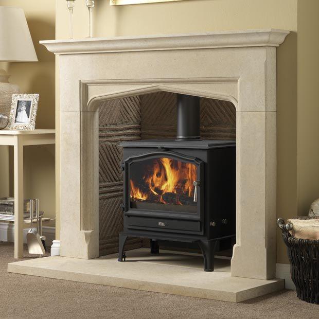 Tudor Stone Fireplace Surround | Cast Iron Fireplaces ...