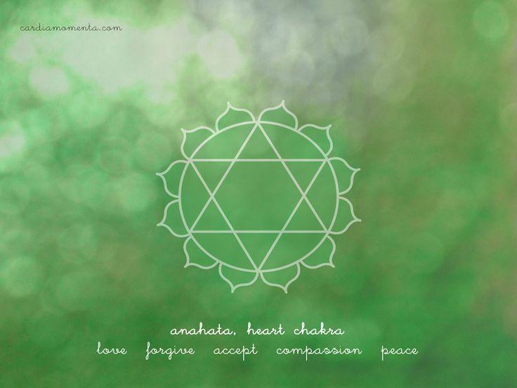 Anahata, heart chakra greeting card