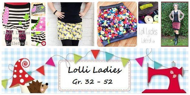 Rock  **Lolli for Ladies** Ebook by Lolletroll ist eine gut bebilderte Nähanleitung (incl. Schnittmuster)  Ein Schnitt mit vielen Variationen.  Lolli for Ladies ein Rock, mit dem du immer...