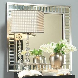 angelo:HOME Marlowe Square Mirror on Mirror | Overstock.com | $201.99
