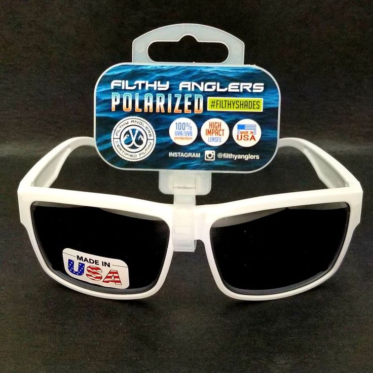 White Filthy Anglers Polarized Fishing Skiing Sunglasses Plastic Frame Ames New #ClearLake #Sport