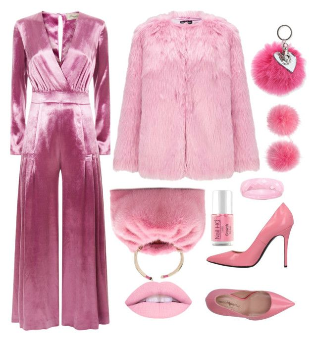"""""""Furry in pink"""" by forgetrules ❤ liked on Polyvore featuring Temperley London, Miss Selfridge, Wild & Woolly, Marco Barbabella, Valentino and Bari Lynn"""