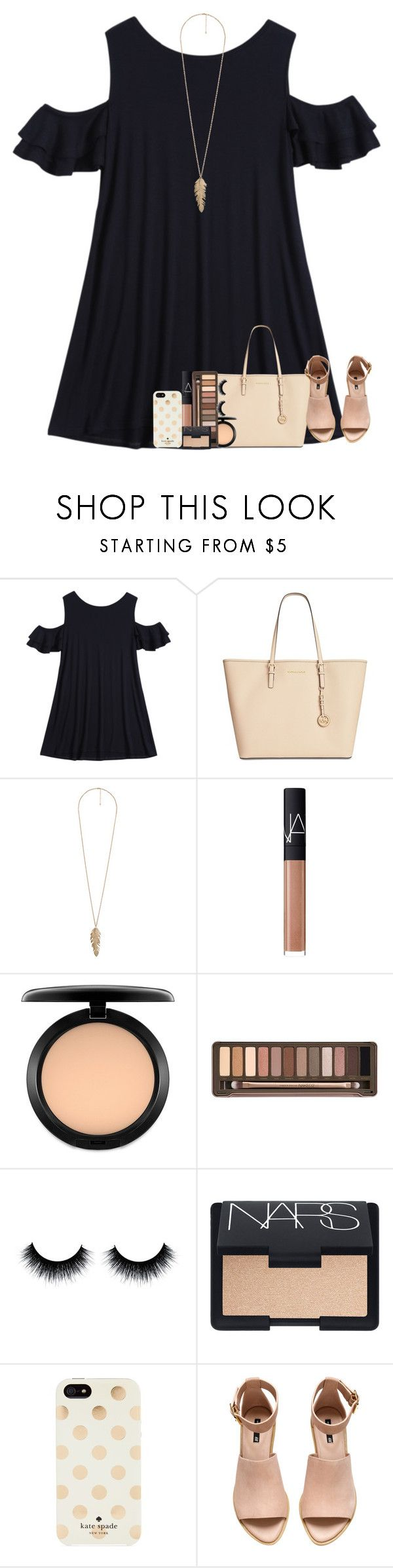 """""""If The Whole World Was Watching, I'd Still Dance With You"""" by theafergusma ❤ liked on Polyvore featuring Michael Kors, Forever 21, NARS Cosmetics, MAC Cosmetics, Urban Decay, Kate Spade and H&M"""