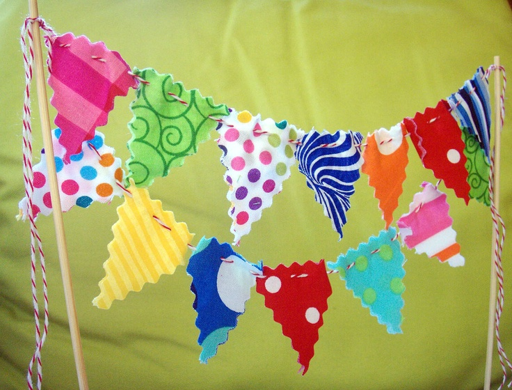 Cake Bunting Super Circus by BooBahBlue on Etsy