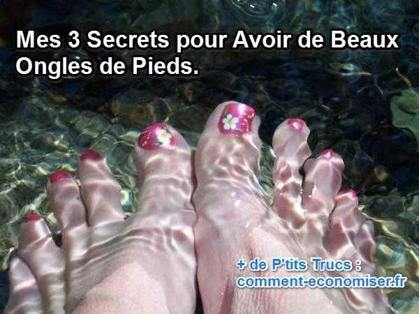 Voici 3 secrets pour avoir de beaux pieds et les sortir de la couette sans rougir.  Découvrez l'astuce ici : http://www.comment-economiser.fr/3-secrets-avoir-beaux-ongles-pieds.html?utm_content=buffer7603b&utm_medium=social&utm_source=pinterest.com&utm_campaign=buffer