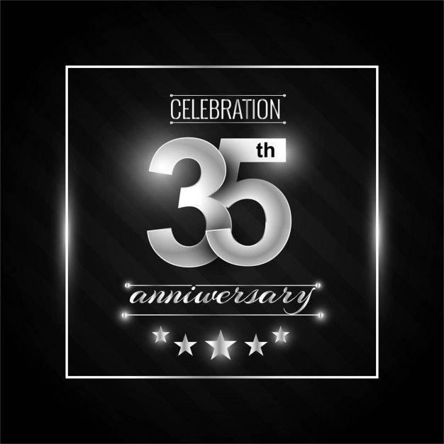 35-я годовщина фон Бесплатные векторы