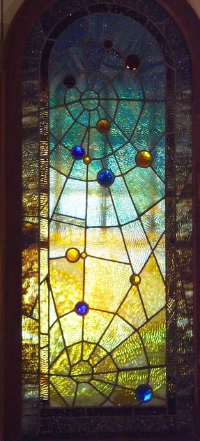 Spider web stained glass - would make your house look like a home for fairies! morgan would love it haha