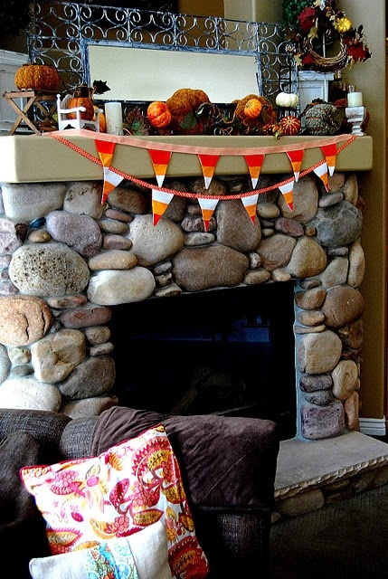 River stones and Fire places