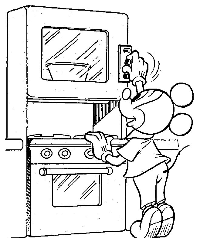 Cooking Mickey Coloring PageMickeyPrintable Coloring Pages Free