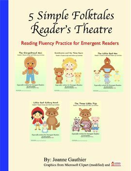5 reader's theater scripts for common folktales, especially written for emergent readers with simplified language and repetition. Also includes comprehension and story-mapping follow-up activities, aligned to Common Core, which ask students to sequence, draw and orally discuss ideas and offer personal opinions.