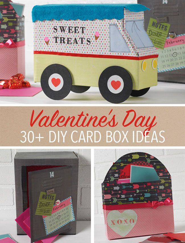 30+ DIY Valentine's Day Card Box Ideas