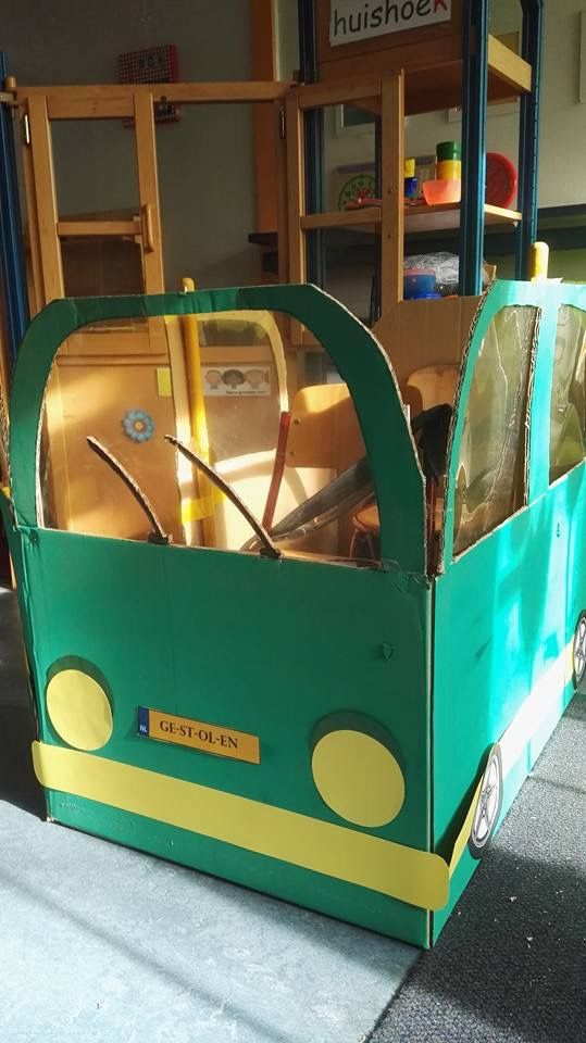 PROP: Cardboard Bus (outside view)