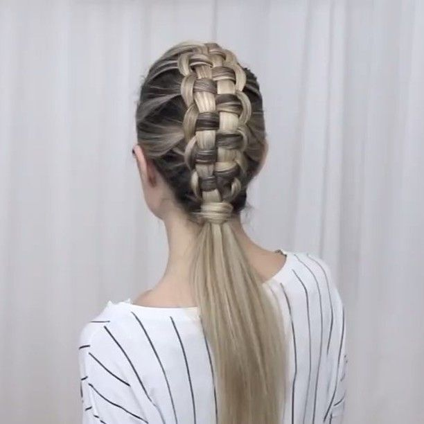 """WEBSTA @ n.starck - ✖️ZIPPER BRAID✖️Preview for this amazing braidLink in bio for the full tutorial on YouTube Music """"Final song"""" by MØ"""