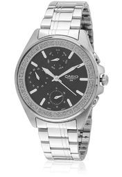 Casio Enticer Ltp-2086D-1Avdf-A855 Silver/Black Chronograph Watch Online Shopping Store