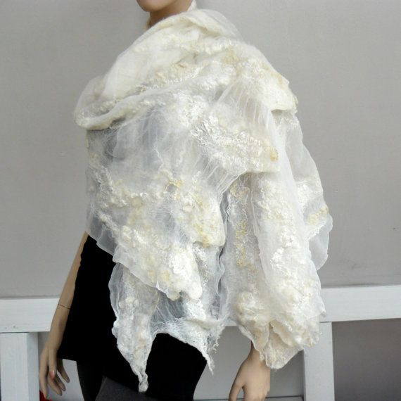 Nuno bufanda de fieltro bufanda grande de lana y seda