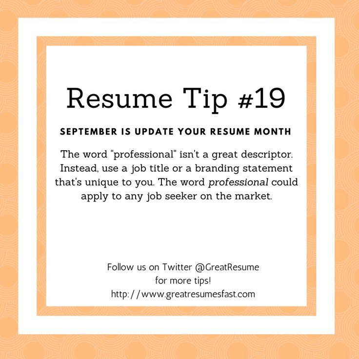 64 best 2017 Resume Tips images on Pinterest Resume tips - tips for resume writing