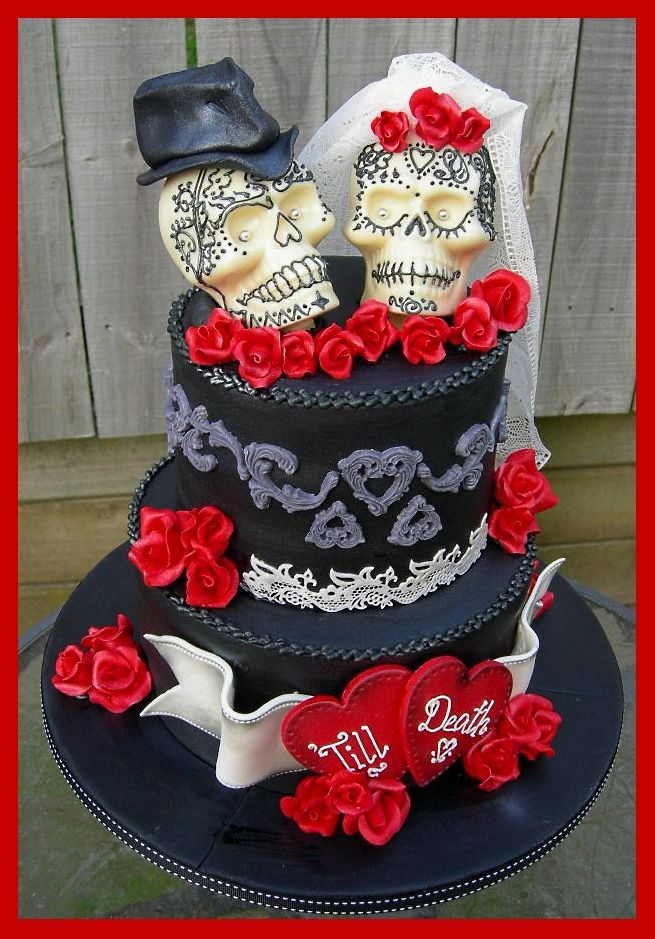 Best 25+ Skull wedding cakes ideas on Pinterest ...