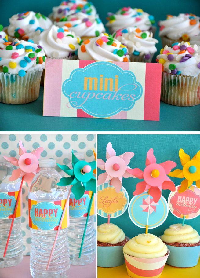 pinwheel party, love this!
