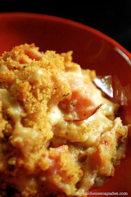 Deléitese con esta fácil, cremoso, delicioso pollo Cordon Bleu cazuela para la…