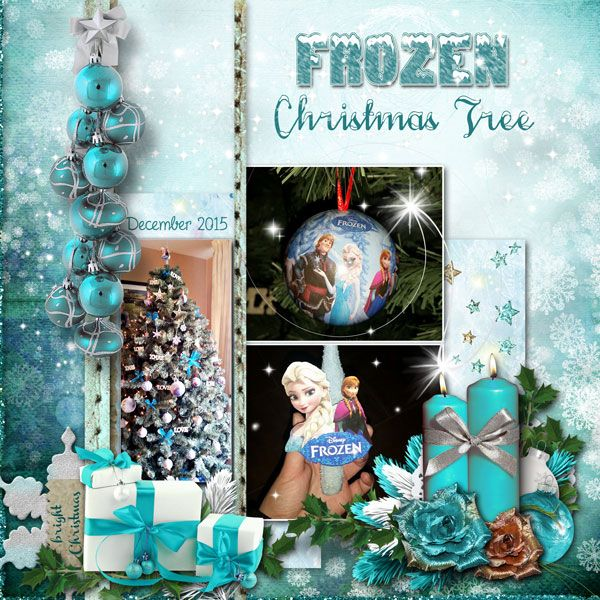 Frozen Christmas Tree by Janet. Kit: Bright Christmas by Graphic Creations http://scrapbird.com/designers-c-73/d-j-c-73_515/graphic-creations-c-73_515_556/bright-christmas-by-graphic-creations-p-17371.html