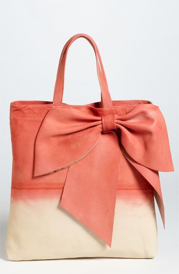 Valentino Dyed Bow Tote.Fashion Shoes, Red Valentino, Handbags, Fashion Bags, Totes Bags, Bows Totes, Bags Lady, Girls Shoes, Dyed Bows