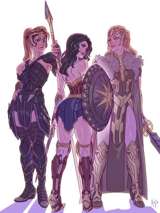 Since I saw the movie I wanted to do some of these 3 wonder women. So I take the Trinquétte Weekly Challenge to do it.★➚↫_Wonder Woman_ ↬★➘