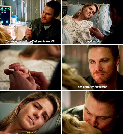 Arrow - Oliver & Felicity #4.10 #Season4 #Olicity