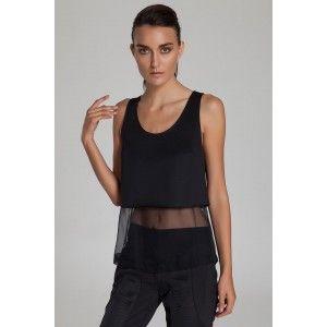 Bianco e Nero - Lazy Lazer İpek Siyah Bluz