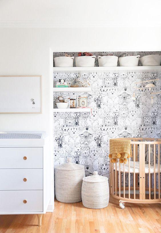 nursery nook in master bedroom closet // makeover tour // sarah sherman samuel