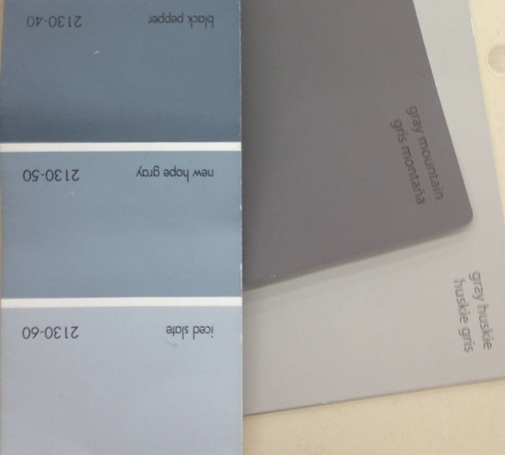 Gray Blue Paint Colors: Benjamin Moore...new Hope Gray Bathroom