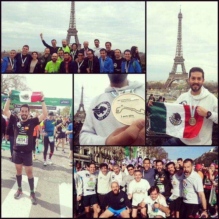 """bien lo dijo nuestro #senseitigre """"hacer un maraton a medio entrenar es muy dificil"""" pues si costo mucho dolio algo pero esta hecho! que importante tener fuertemente fijada esa motivacion mental fue la fuerza que me hizo terminar los 42 kms ... hora de analizar aprendizajes y replantearse objetivos pero tambien de disfrutar lo vivido ... gracias a quienes estuvieron al pendiente va por ustedes!  #soyTigre #TigersRunningClub #roadtoparis #training4paris42k #ParisMarathon #clubEXATECrunning…"""