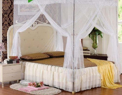 Pin by rihamah omar on bedding comforters bed sheets - Bed canopies for adults ...