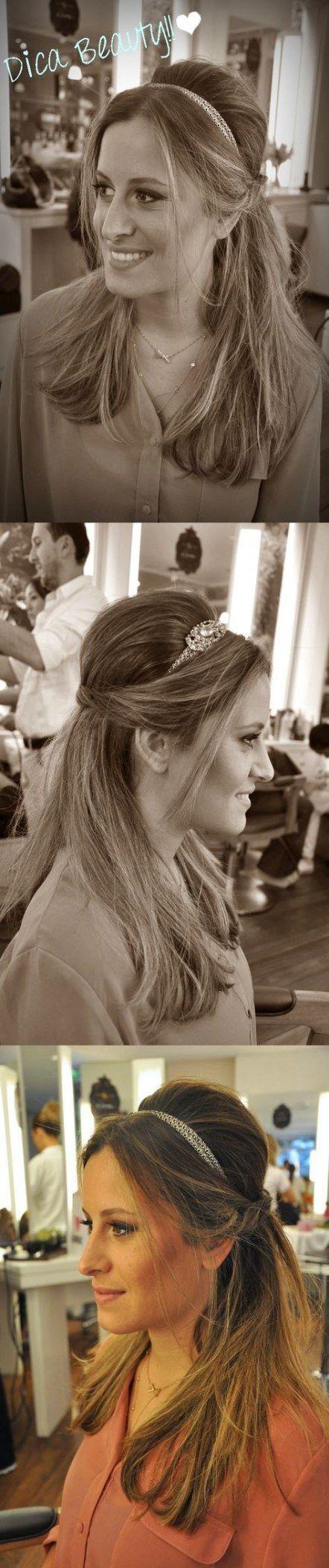 35 Trendy Wedding Hairstyles with Headband Messy Buns, #Buns #Wedding Hairstyles #Messy #with