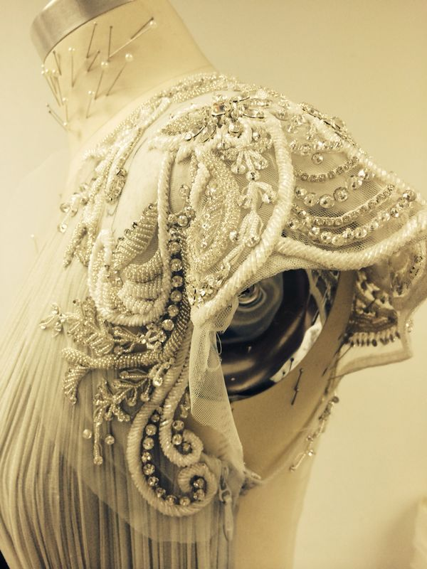 Close up: The Whitney gown from the Catherine Deane AW14 collection #AW14 #embellishment