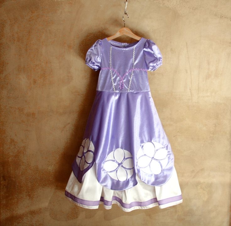Sofia the first princess girl dress, purple lilac girl dress by PABUITA on Etsy