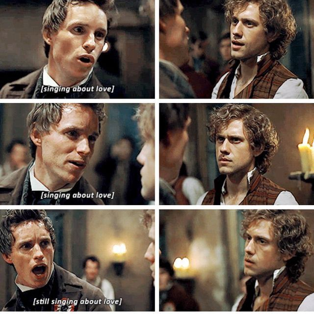 Enjolras doesn't give a shitokai mushroom about Marius' feels