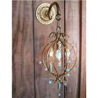 looks like jewelry!  wall sconce from Chandi Design: Ethereal Beautiful, Jewelry Chains, Design Gold Frames, Lights Fiona, Chandi Design Gold, Chandi Lights, Fiona Sconces, Wall Sconces, Beautiful Chandi