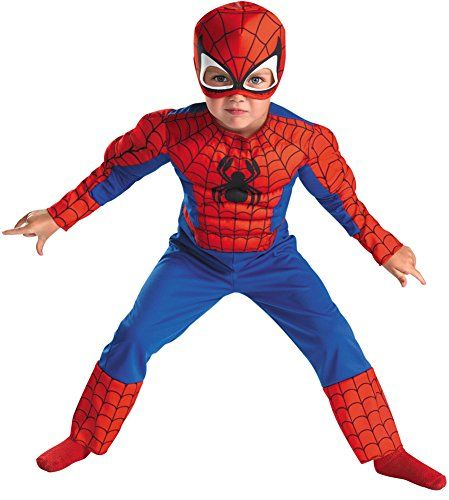 Baby-boys - Spiderman Toddler Costume Muscle 3T-4T Halloween Costume @ niftywarehouse.com