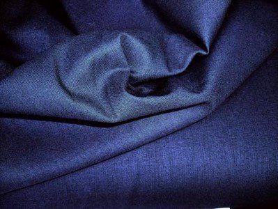 NB 5580-08 Katoen uni donkerblauw